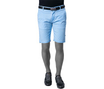 Herren Hose Shorts Baumwoll-Stretch aqua