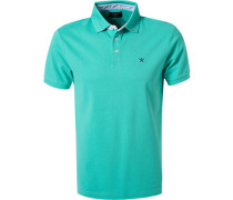 Polo-Shirt Slim Fit Baumwoll-Piqué mint