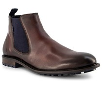 Schuhe Chelsea Boots Leder mittel