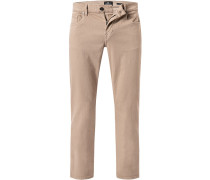 Jeans Slim Fit Baumwoll-Stretch natur