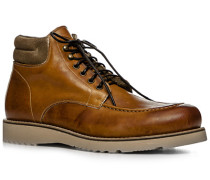 Schuhe Schnürboots Leder warmgefüttert