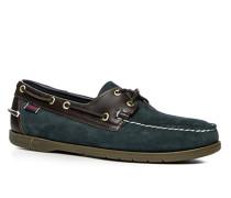 Herren Bootsschuhe, Leder, navy-braun blau
