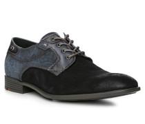 Herren Schuhe DAYAN Veloursleder-Textil blau