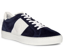 Schuhe Sneaker Veloursleder-Textil dunkel