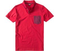 Herren Polo-Shirt Slim-Fit Baumwoll-Jersey