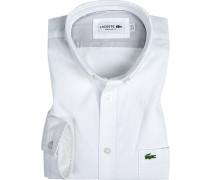 Herren Hemd, Regular Fit, Baumwolle, weiß
