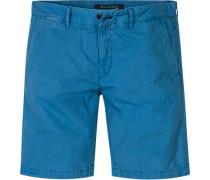 Herren Hose Shorts, Regular Fit, Baumwolle, bleu blau