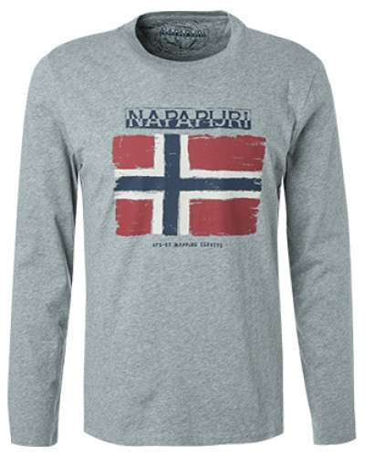 T-Shirt Longsleeve, Baumwolle, rot
