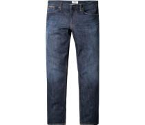 Herren Jeans Regular Fit, Baumwoll-Stretch, indigo blau
