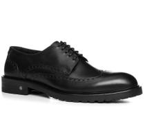 Herren Schuhe Derby Rindleder schwarz schwarz,schwarz