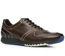 Herren Schuhe Sneaker Kalbleder braun gemustert braun,grau,schwarz
