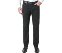 Herren Jeans Modern Fit Comfort Denim-Stretch schwarz