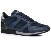 Herren Schuhe Sneaker Leder-Nylon-Mix azzurro blau,blau