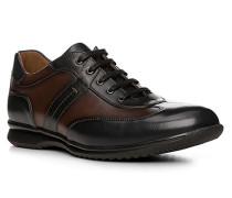 Herren Schuhe BERNARD Kalbleder blau-braun