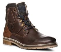 Herren Schuhe Boots, Leder warmgefüttert, dunkelbraun