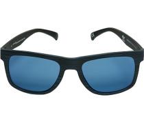 Herren Brillen adidas, Sonnenbrille, Kunststoff, blau-schwarz