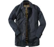 Herren Drei-in-eins-Mantel Baumwolle wasserdicht marine blau
