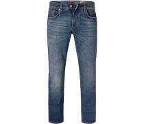 Jeans Slim Fit Baumwoll-Stretch mittel