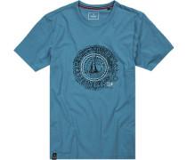 Herren T-Shirt, Baumwolle, hellblau