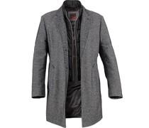 Mantel Baumwolle-Wolle dunkel meliert