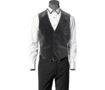 Herren Anzug Samt-Weste Baumwolle grau grau,grau