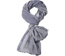 Herren Schal, Baumwolle, blau gestreift