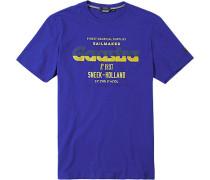 Herren T-Shirt, Baumwolle, königsblau