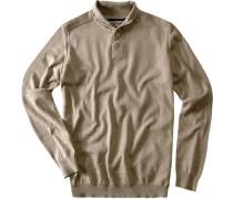 Herren Pullover Regular Fit Baumwolle-Wolle beige