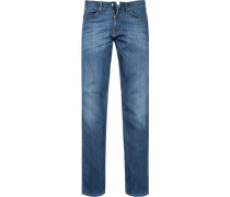 Herren Jeans Regular Cut Baumwoll-Stretch indigo