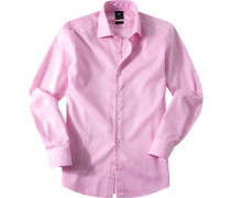Herren Hemd Strukturgewebe rosa