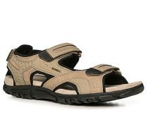 Herren Schuhe Sandalen Textil beige