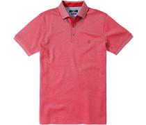 Herren Polo-Shirt Baumwoll-Piqué rot meliert