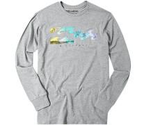 Herren T-Shirt Longsleeve Baumwolle grau meliert
