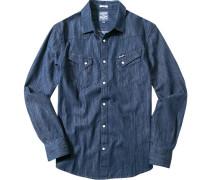 Herren Hemd, Regular Fit, Jeans, dunkelblau