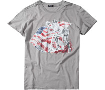 Herren T-Shirt Baumwolle grau