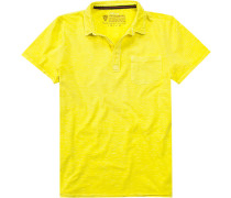 Herren Polo-Shirt, Baumwolle, zitronengelb