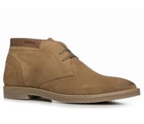 Herren Schuhe Desert Boots Veloursleder cognac beige,beige