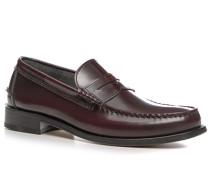 Herren Schuhe Loafer, Glanzleder, bordeaux rot