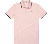 Herren Polo-Shirt, Regular Fit, Baumwoll-Piqué, rosé rosa