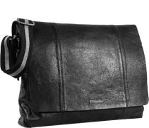 Herren   Messenger Bag Rindleder schwarz