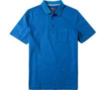 Herren Polo-Shirt Baumwoll-Piqué kobaltblau