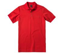 Herren Polo-Shirt Baumwoll-Piqué ziegel