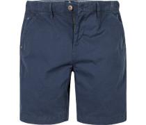 Herren Hose Shorts Regular Fit Baumwolle marineblau