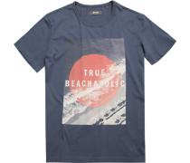 Herren T-Shirt Baumwolle rauchblau