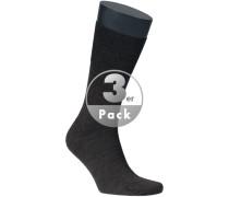 Herren Socken Woll-Mix dunkel meliert