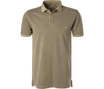 Herren Polo-Shirt, Baumwoll-Piqué, olivgrün
