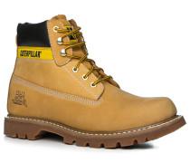 Schuhe Boots Nubukleder ocker