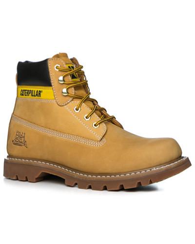Caterpillar Footwear Herren Schuhe Schnürstiefeletten, Nubukleder, ocker