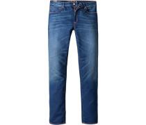 Herren Jeans Slim Fit Baumwoll-Stretch 11 oz indigo blau