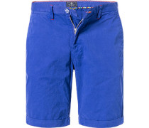 Herren Hose Bermudashorts, Regular Fit, Baumwolle, blau